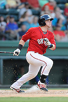 Catcher Jordan Procyshen (29) of the Greenville Drive bats in a game against the Lexington Legends on Friday, August 29, 2014, at Fluor Field at the West End in Greenville, South Carolina. Greenville won, 6-1. (Tom Priddy/Four Seam Images)