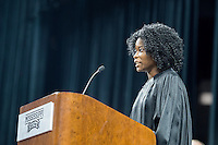 2016 Fall Convocation in Humphrey Coliesum: invocation by Sydney Reed, MSU Black Student Association President.<br />  (photo by Megan Bean / &copy; Mississippi State University)