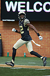 Wake Forest Demon Deacons wide receiver Jaquarii Roberson (82) warms-up prior to the game against the Rice Owls at BB&T Field on September 29, 2018 in Winston-Salem, North Carolina. The Demon Deacons defeated the Owls 56-24. (Brian Westerholt/Sports On Film)