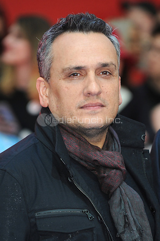 LONDON, ENGLAND - APRIL 26: Director Joe Russo attends the European premiere of Captain America: Civil War at Westfield Shopping Centre on April 26, 2016 in London, England.<br /> CAP/BEL<br /> &copy;BEL/Capital Pictures /MediaPunch ***NORTH AMERICAN AND SOUTH AMERICAN SALES ONLY***