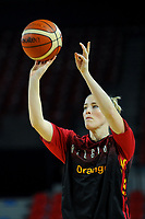20191114 - CHARLEROI , BELGIUM : Belgian Cat Kim Mestdagh (5) pictured during a female basketball match between the Belgian national team Belgian Cats and Ukraine , a first qualification game for the Belgian Cats in Group G towards the Women's European Eurobasket Basketball Championships 2021 in Lyon, Paris and Valencia, on Thursday 14 th November in the Dome in Charleroi , Belgium . PHOTO SPORTPIX | STIJN AUDOOREN