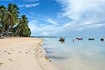 A beach in the capital Funafuti in Tuvalu.