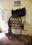 Old clothes mangle, Museum of East Anglian Life, Stowmarket, Suffolk