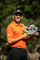 Sergio Garcia (ESP) wins his 3rd Valderrama Masters at the end of Monday's storm delayed Final Round 3 of the Andalucia Valderrama Masters 2018 hosted by the Sergio Foundation, held at Real Golf de Valderrama, Sotogrande, San Roque, Spain. 22nd October 2018.<br /> Picture: Eoin Clarke | Golffile<br /> <br /> <br /> All photos usage must carry mandatory copyright credit (&copy; Golffile | Eoin Clarke)
