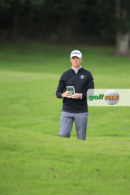 Hannes Ronneblad (SWE) during round 1 of the Irish Challenge, Mount Wolseley Hotel and Golf Resort, Tullow, Co Carlow, Ireland 14/09/2017<br /> Picture: Fran Caffrey / Golffile<br /> <br /> All photo usage must carry mandatory copyright credit (&copy; Golffile | Fran Caffrey)