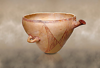 "Minoan clay vessel from ""West Court House""  Knossos 2600-2400 BC BC, Heraklion Archaeological  Museum."