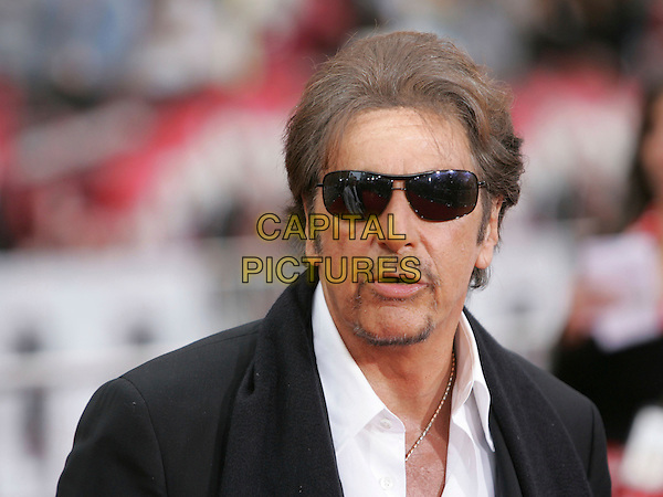 AL PACINO  .The Warner Brothers Pictures L.A. Premiere of Ocean's Thirteen held at The Grauman's Chinese Theatre in Hollywood, California, USA..June 5th, 2007             .headshot portrait goatee facial hair sunglasses shades .CAP/DVS.©Debbie VanStory/Capital Pictures