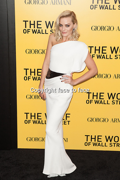 NEW YORK, NY - DECEMBER 17: Margot Robbie attends the 'The Wolf Of Wall Street' premiere at Ziegfeld Theater on December 17, 2013 in New York City. <br /> Credit: MediaPunch/face to face<br /> - Germany, Austria, Switzerland, Eastern Europe, Australia, UK, USA, Taiwan, Singapore, China, Malaysia, Thailand, Sweden, Estonia, Latvia and Lithuania rights only -