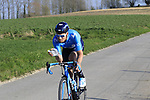 Jasha Sutterlin (GER) Movistar Team descends off Paterberg during the 2019 E3 Harelbeke Binck Bank Classic 2019 running 203.9km from Harelbeke to Harelbeke, Belgium. 29th March 2019.<br /> Picture: Eoin Clarke | Cyclefile<br /> <br /> All photos usage must carry mandatory copyright credit (© Cyclefile | Eoin Clarke)
