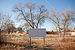 A vacant lot in Fallon, Nev. adjacent to a campaign appearance by GOP presidential candidate Rick Santorum, February 2, 2012.