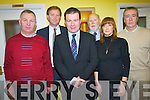 Representatives of the Tralee to Fenit Greenway community initiative who met with Junior Minister for Transport Alan Kelly last week. .Back L-R Deputy Arthur Spring, David Slattery and Colm McLoughlin. .Front L-R Cllr Dan Galvin, MInister Alan Kelly and Margaret Lynch.
