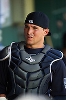 New York Yankees catcher Luis Torrens (25) during an Instructional League game against the Philadelphia Phillies on September 27, 2016 at Bright House Field in Clearwater, Florida.  (Mike Janes/Four Seam Images)