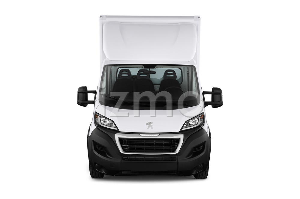 Car photography straight front view of a 2019 Peugeot Boxer - 2 Door Parcel Van Front View