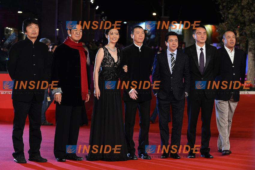 "Actor Zhang Guo Li (2L), actress  Xu Fan (3L), director Feng Xiaogang (4L) - Movie ""1942"".Roma 9/11/2012 Auditorium.Festival del Cinema di Roma.Foto Guido Aubry Elipics"