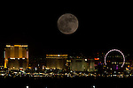 Supermoon over Las Vegas, double exposed in camera with  Canon 1Dx  400mm + 1.4 converter 12/13/2016 Supermoon over Las Vegas, double exposed in camera with  Canon 1Dx  400mm + 1.4 converter