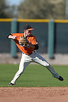 San Francisco Giants shortstop Jameson Henning (8) during an Instructional League game against the Oakland Athletics on October 13, 2014 at Giants Baseball Complex in Scottsdale, Arizona.  (Mike Janes/Four Seam Images)