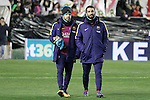 FC Barcelona's Jordi Alba and Arda Turan during La Liga match. March 3,2016. (ALTERPHOTOS/Acero)