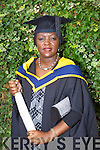 Louise Kasongo who graduated with a Master of Science in Educational Technologies at the Autumn graduations which took place at the Brandon hotel on Friday.