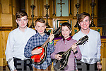 Ewan Cotter Killorglin, James Tracey Caragh Lake, Josephine Cahillane Fossa and Kevin Fitzpatrick Killorglin who participated in the Young Musician of the Year over the weekend