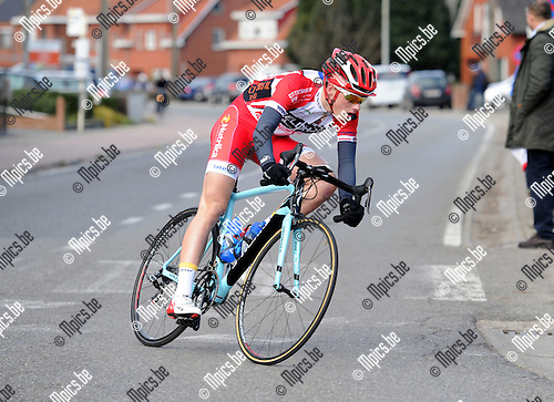 2015-02-28 / Wielrennen / seizoen 2015 / Junioren Rijkevorsel / Robbe Debuyck<br /><br />Foto: Mpics.be
