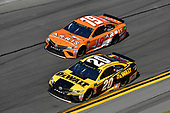 Monster Energy NASCAR Cup Series<br /> Daytona 500<br /> Daytona International Speedway, Daytona Beach, FL USA<br /> Sunday 18 February 2018<br /> Erik Jones, Joe Gibbs Racing, DEWALT Toyota Camry, Daniel Suarez, Joe Gibbs Racing, ARRIS Toyota Camry<br /> World Copyright: Logan Whitton<br /> LAT Images
