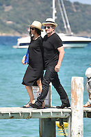 Bono, Noël Gallagher, Sacha Baron Cohen & their wifes at Club 55 in Saint-Tropez - France