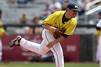 March 21, 2010:  Pitcher Eric Katzman (22) of the Michigan Wolverines delivers a pitch during a game at Tradition Field in St. Lucie, FL.  Photo By Mike Janes/Four Seam Images