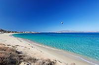 Mikri Vigla beach of Naxos island in Cyclades, Greece
