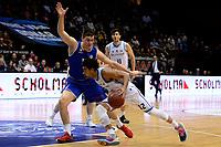 GRONINGEN - Basketbal, Donar - Den Helder, Dutch Basketbal League, seizoen 2019-2020, 09-02-2020,  Donar speler Carrington Love in duel met  Den Helder speler Yarick Brussen