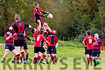 Ger Allman Killarney wins the line out against Bantry in Killarney on Sunday