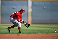 Cincinnati Reds Mitch Piatnik (26) during an instructional league game against the Cleveland Indians on October 17, 2015 at the Goodyear Ballpark Complex in Goodyear, Arizona.  (Mike Janes/Four Seam Images)