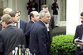 United States Secretary of State Colin Powell and Foreign Minister Igor Ivanov of Russia brief reporters at the White House in Washington, DC following their meeting with U.S. President George W. Bush on May 18, 2001.<br /> Credit: Ron Sachs / CNP