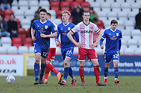 Frustration for Ben Sheaf of Stevenage after Crewe score a late equaliser during Stevenage vs Crewe Alexandra, Sky Bet EFL League 2 Football at the Lamex Stadium on 10th March 2018