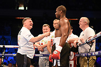 Daniel Dubois defeats David Howe during a Boxing Show at the Copper Box Arena on 20th May 2017