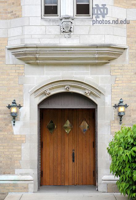 June 13, 2011; Lyons Hall door..Photo by Matt Cashore/University of Notre Dame