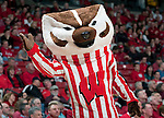 March 3, 2010: Wisconsin Badgers mascot Bucky Badger during a Big Ten Conference NCAA basketball game against the Iowa Hawkeyes at the Kohl Center on March 3, 2010 in Madison, Wisconsin. The Badgers won 67-40. (Photo by David Stluka)