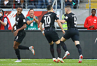celebrate the goal, Torjubel zum 2:0 von Ante Rebic (Eintracht Frankfurt) - 30.09.2018: Eintracht Frankfurt vs. Hannover 96, Commerzbank Arena, DISCLAIMER: DFL regulations prohibit any use of photographs as image sequences and/or quasi-video.