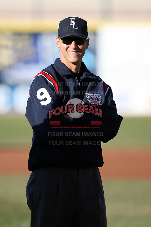 May 29th 2008: Field umpire Vincent Carapazza during a game at Jerry Uht Park in Erie, PA.  Photo by:  Mike Janes/Four Seam Images