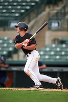 GCL Orioles shortstop Ryan Mountcastle (43) at bat during the second game of a doubleheader against the GCL Rays on August 1, 2015 at the Ed Smith Stadium in Sarasota, Florida.  GCL Orioles defeated the GCL Rays 11-4.  (Mike Janes/Four Seam Images)