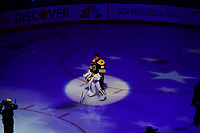 June 6, 2019: Boston Bruins goaltender Tuukka Rask (40) before game 5 of the NHL Stanley Cup Finals between the St Louis Blues and the Boston Bruins held at TD Garden, in Boston, Mass. The Blues defeat the Bruins 2-1 in regulation time. Eric Canha/CSM