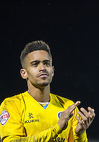 Paris Cowan-Hall of Wycombe Wanderers celebrates the win during the Sky Bet League 2 match between Dagenham and Redbridge and Wycombe Wanderers at the London Borough of Barking and Dagenham Stadium, London, England on 9 February 2016. Photo by Andy Rowland.