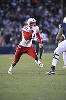 23 November 2013:  Nebraska DE Randy Gregory (44). The Nebraska Cornhuskers defeated the Penn State Nittany Lions 23-20 in overtime at Beaver Stadium in State College, PA.