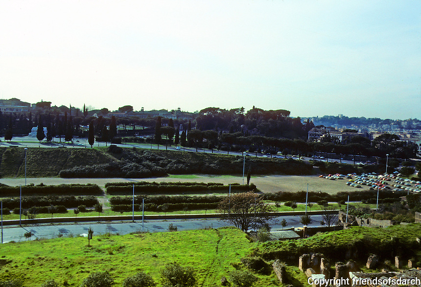 Italy: Rome--Circus Maximus from Palatine Hill. Photo '82.