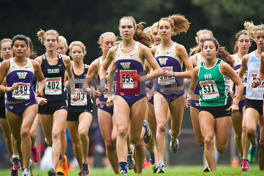 Liberty Miller----Washington Huskies men's and women's cross country teams compete in the Sundodger Invitational in West Seattle's LIncoln Park  on Saturday, September 17, 2011. (Photo by Dan DeLong/Red Box Pictures)
