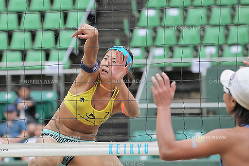 Takemi Nishibori, September 4, 2011 - Beach Volleyball : JBV Tour 2011 Phiten Beach Volleyball Osaka Open tournament at Utsubo Tennis Center, Osaka, Japan. (Photo by Akihiro Sugimoto/AFLO SPORT) [1080]