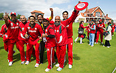 ICC World T20 Qualifier - GROUP B MATCH - Afghanistan v Oman at Heriots CC, Edinburgh - Oman win and celebrate with fans — credit @ICC/Donald MacLeod - 15.07.15 - 07702 319 738 -clanmacleod@btinternet.com - www.donald-macleod.com