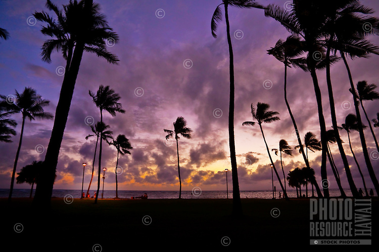 A spectacular Hawaiian sunset.
