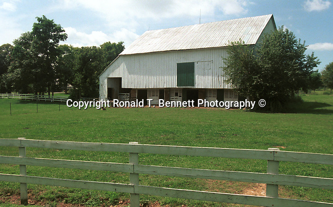 White Virginia barn with fence Commonwealth of Virginia, Fine Art Photography by Ron Bennett, Fine Art, Fine Art photography, Art Photography, Copyright RonBennettPhotography.com ©