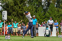 Justin Thomas (USA) watches his tee shot on 4 during 1st round of the World Golf Championships - Bridgestone Invitational, at the Firestone Country Club, Akron, Ohio. 8/2/2018.<br /> Picture: Golffile | Ken Murray<br /> <br /> <br /> All photo usage must carry mandatory copyright credit (&copy; Golffile | Ken Murray)