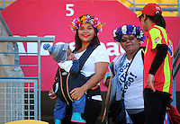 Fans arrive for day two of the 2016 HSBC Wellington Sevens at Westpac Stadium, Wellington, New Zealand on Saturday, 30 January 2016. Photo: Dave Lintott / lintottphoto.co.nz